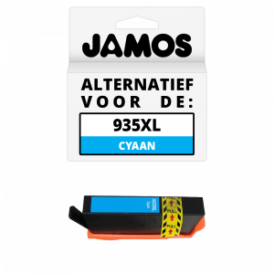 JAMOS Inktcartridge Alternatief voor de HP 935XL Cyaan