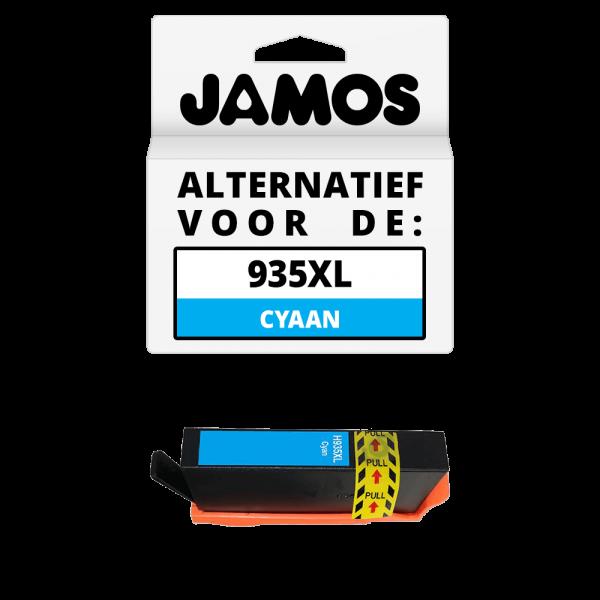JAMOS Inktcartridge Alternatief voor de HP 935XL Cyaan