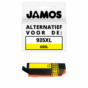 JAMOS Inktcartridge Alternatief voor de HP 935XL Geel