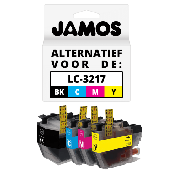 JAMOS Inktcartridge Alternatief voor de Brother LC-3217 Voordeelset