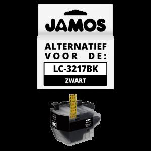 JAMOS Inktcartridge Alternatief voor de Brother LC-3217BK Zwart