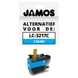 JAMOS Inktcartridge Alternatief voor de Brother LC-3217C Cyaan