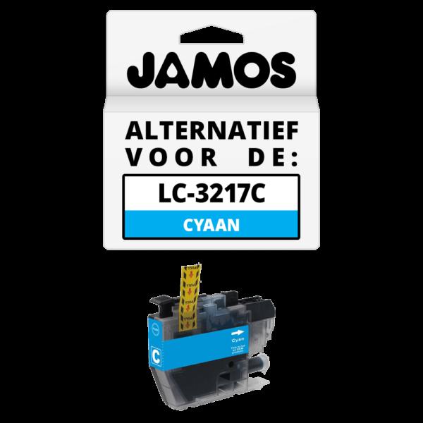 JAMOS Inktcartridge Alternatief voor de Brother LC-3217C Cyaan