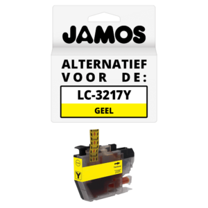 JAMOS Inktcartridge Alternatief voor de Brother LC-3217Y Geel