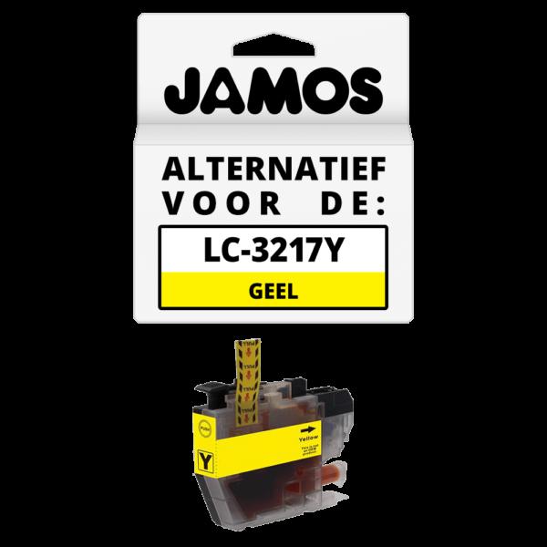 JAMOS Inktcartridge Alternatief voor de Brother LC-3217Y Geel