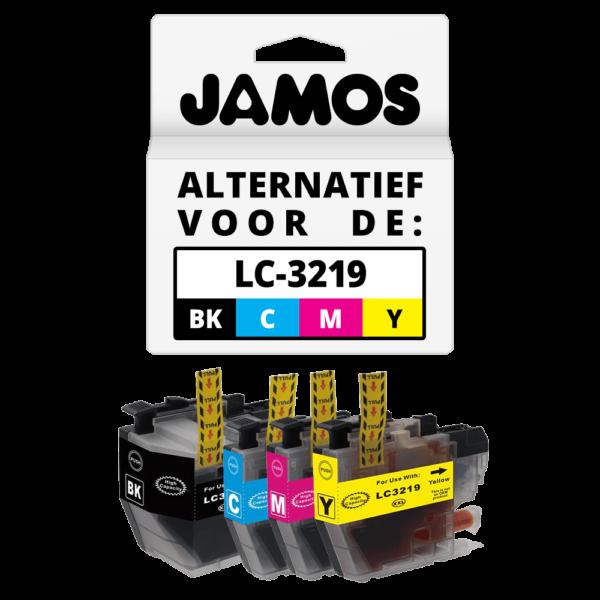 JAMOS Inktcartridge Alternatief voor de Brother LC-3219 XL Voordeelset