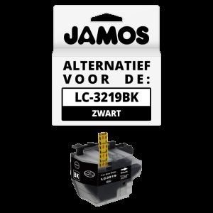 JAMOS Inktcartridge Alternatief voor de Brother LC-3219BK XL Zwart