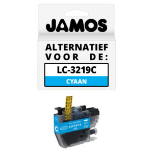 JAMOS Inktcartridge Alternatief voor de Brother LC-3219C XL Cyaan