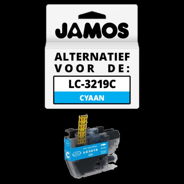 JAMOS Inktcartridge Alternatief voor de Brother LC-3219C XL Cyaan