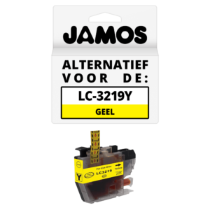 JAMOS Inktcartridge Alternatief voor de Brother LC-3219Y XL Geel