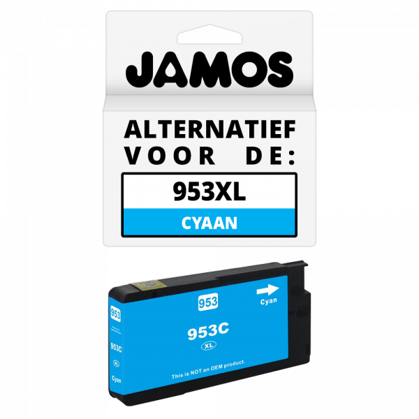 JAMOS Inktcartridge Alternatief voor de HP 953XL Cyaan