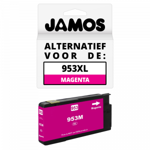 JAMOS Inktcartridge Alternatief voor de HP 953XL Magenta