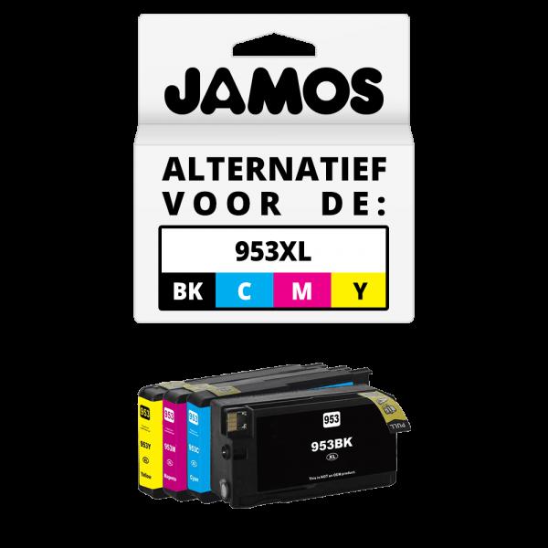 JAMOS Inktcartridge Alternatief voor de HP 953XL Voordeelset