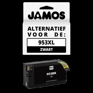 JAMOS Inktcartridge Alternatief voor de HP 953XL Zwart