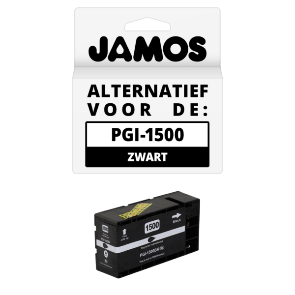 JAMOS Inktcartridge Alternatief voor de Canon PGI-1500BK XL Zwart