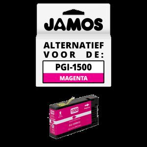JAMOS Inktcartridge Alternatief voor de Canon PGI-1500M XL Magenta
