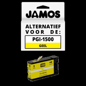 JAMOS Inktcartridge Alternatief voor de Canon PGI-1500Y XL Geel