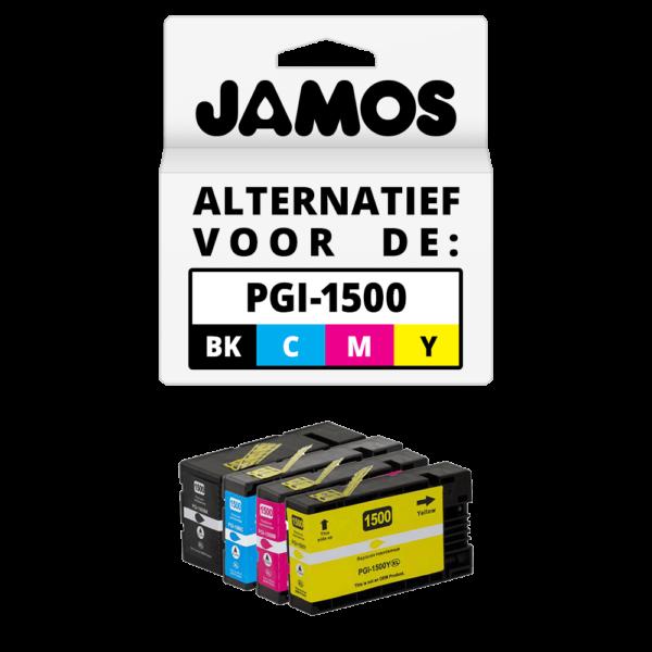 JAMOS Inktcartridges Alternatief voor de Canon PGI-1500 Voordeelset