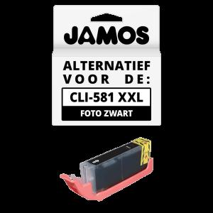 JAMOS Inktcartridge Alternatief voor de Canon CLI-581BK XXL Foto Zwart