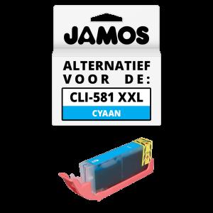 JAMOS Inktcartridge Alternatief voor de Canon CLI-581C XXL Cyaan