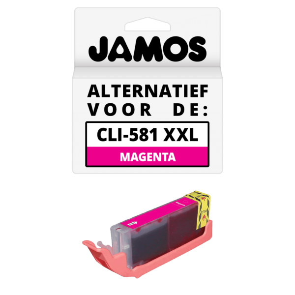 JAMOS Inktcartridge Alternatief voor de Canon CLI-581M XXL Magenta