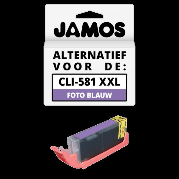JAMOS Inktcartridge Alternatief voor de Canon CLI-581PB XXL Foto Blauw