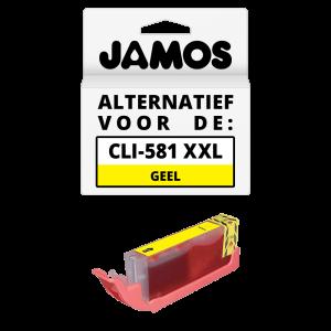 JAMOS Inktcartridge Alternatief voor de Canon CLI-581Y XXL Geel