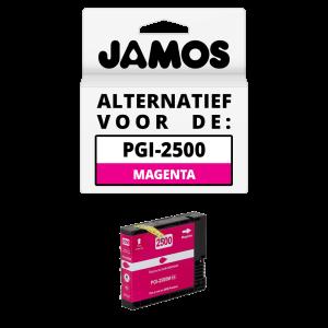 JAMOS Inktcartridge Alternatief voor de Canon PGI-2500M XL Magenta