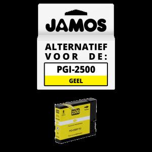 JAMOS Inktcartridge Alternatief voor de Canon PGI-2500Y XL Geel