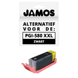 JAMOS Inktcartridge Alternatief voor de Canon PGI-580PGBK XXL Zwart