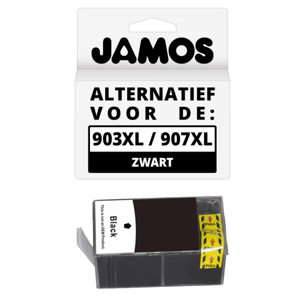 JAMOS Inktcartridge Alternatief voor de HP 903XL 907XL Zwart