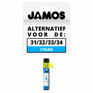 JAMOS Inktcartridge Alternatief Voor De Dell Series 31 Cyaan