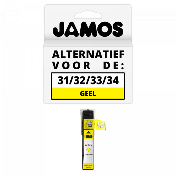 JAMOS Inktcartridge Alternatief Voor De Dell Series 31 Geel