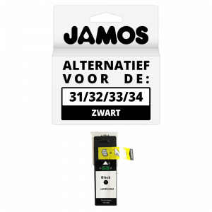 JAMOS Inktcartridge Alternatief Voor De Dell Series 31 Zwart