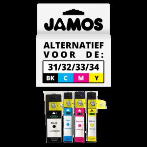 JAMOS Inktcartridge Alternatief Voor De Dell Series 31 Zwart & Kleuren Voordeelset
