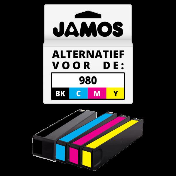 JAMOS Inktcartridge Alternatief voor de HP 980 Zwart & Kleuren Voordeelset