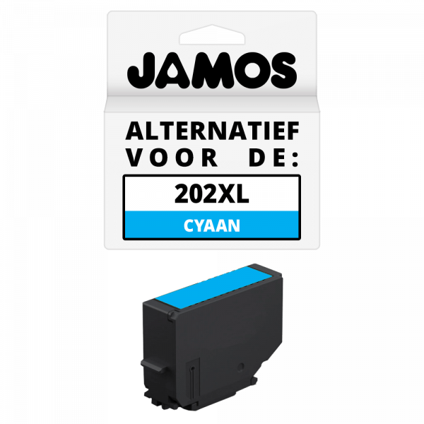 Jamos Inktcartridge Alternatief voor de Epson 202XL Cyaan