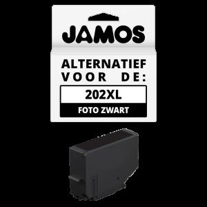 Jamos Inktcartridge Alternatief voor de Epson 202XL Foto Zwart