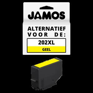 Jamos Inktcartridge Alternatief voor de Epson 202XL Geel