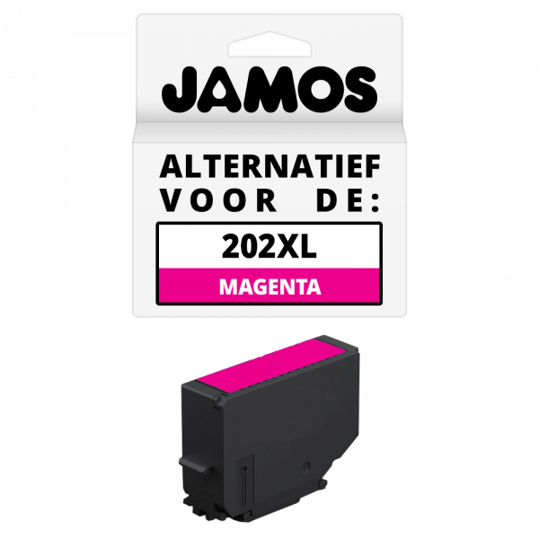 Jamos Inktcartridge Alternatief voor de Epson 202XL Magenta
