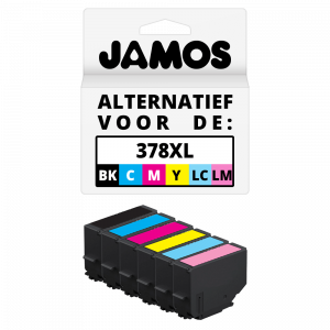 JAMOS Inktcartridge Alternatief voor de Epson 378XL BKCMYLCLM SET