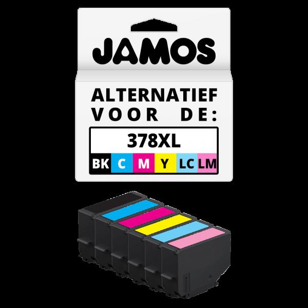 JAMOS Inktcartridge Alternatief voor de Epson 378XL BKCMYLCLM SET