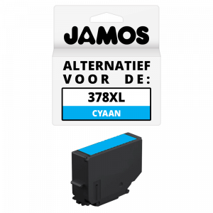 JAMOS Inktcartridge Alternatief voor de Epson 378XL Cyaan