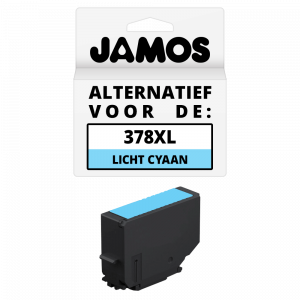 JAMOS Inktcartridge Alternatief voor de Epson 378XL Licht Cyaan
