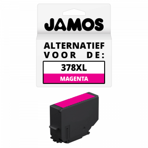 JAMOS Inktcartridge Alternatief voor de Epson 378XL Magenta