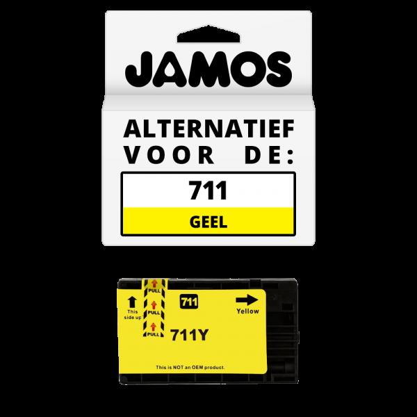 JAMOS Inktcartridge Alternatief voor de HP 711 Geel