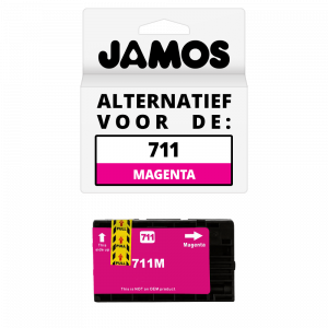 Jamos Inktcartridge Alternatief voor de HP 711 Magenta