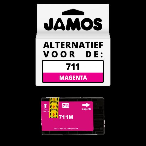 Jamos Inktcartridge Alternatief voor de HP 711 Magenta