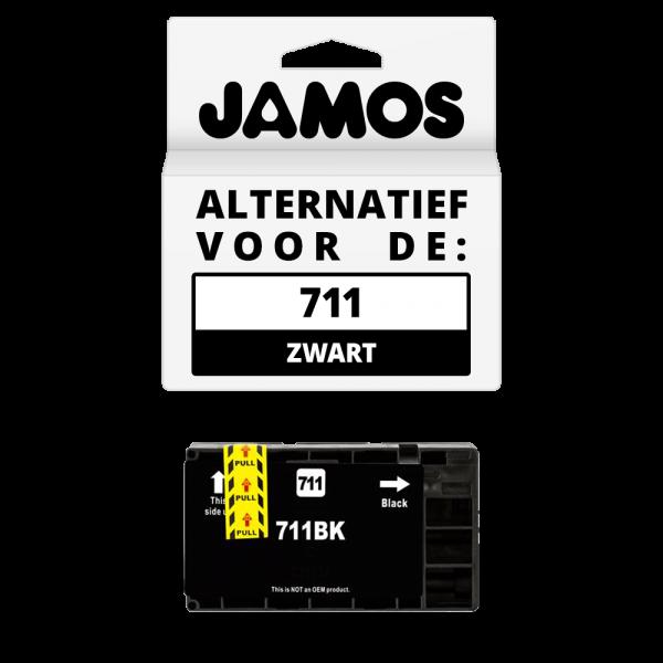 JAMOS Inktcartridge Alternatief voor de HP 711 Zwart