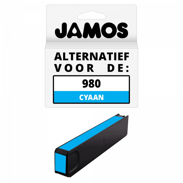 Jamos Inktcartridge Alternatief voor de HP 980 Cyaan